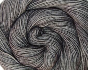 sw wool nylon sport yarn STERLING 3.5oz 306 yards hand dyed