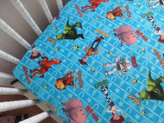 Disney S Toy Story In Blue Baby Crib Or Toddler Fitted