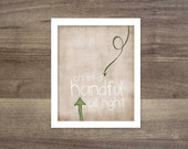 Childrens Bedroom Art Funny Nursery Art Print - Quirky Oh I'm a Handful Alright - Beige Brown Green Arrow Print Little Boy Bedroom Wall Art