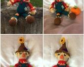 Crocheted Scarecrow - Amigurumi - made to order