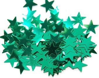 Green Glitter Large Stars - 1  Fl. Ounce