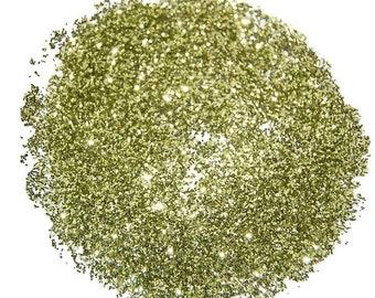 Lime Gold SOLVENT RESISTANT GLITTER  0.015 Hex - 1 Fl. Ounce for Glitter Nail Art, Glitter Nail Polish & Glitter Crafts