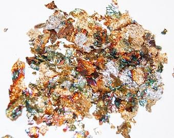 Metallic Leaf, Metallic Flakes Mix, Nail Art, Resin Supplies, Art Glitter, Nail Art Supplies, Silver Leaf, Gold Leaf, Silver and Gold, Gold