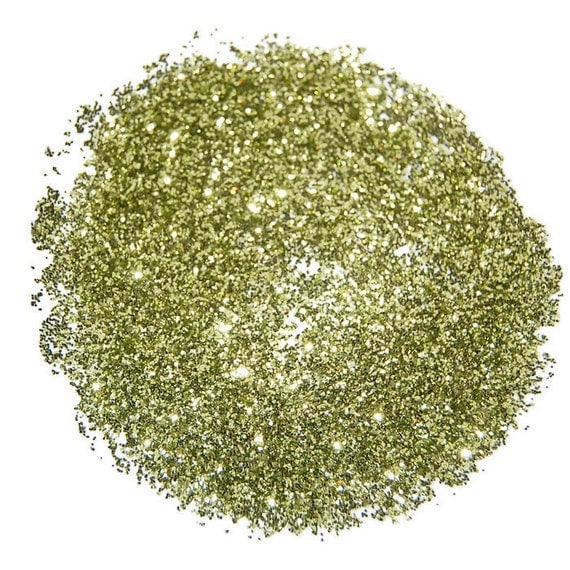 Lime Gold SOLVENT RESISTANT GLITTER 0.015 Hex 1 Fl. Ounce