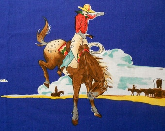 Cowboys on Horses Alexander Henry Fabric