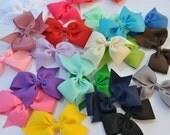 Hair Bows, Pinwheel bows, You choose 5 colors, Medium 3inch Hair Bows, Toddler Bow, Girls Hair bow, Large 4 inch hair bows