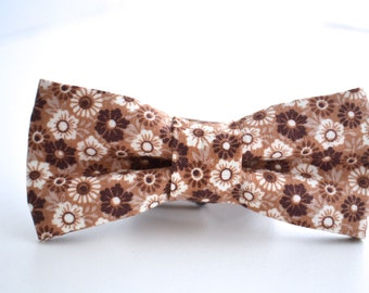 Bowtie Boys Ages 2-10 in Brown Floral
