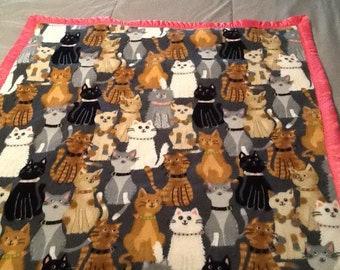 Weighted blanket for the cat lover in your home!!
