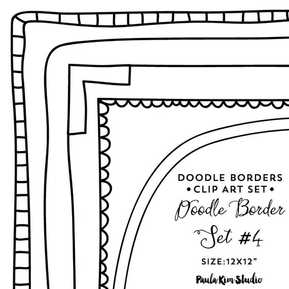 Doodle Clipart Border Clip Art Downloadable Images Frame Clipart Digital Frames and Borders Doodle Border