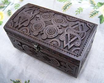 Jewelry box Wedding jewelry box Ring box Wooden box Jewelry wooden box Wood carving box Jewellery box Wood jewelry box Wooden ring box B28