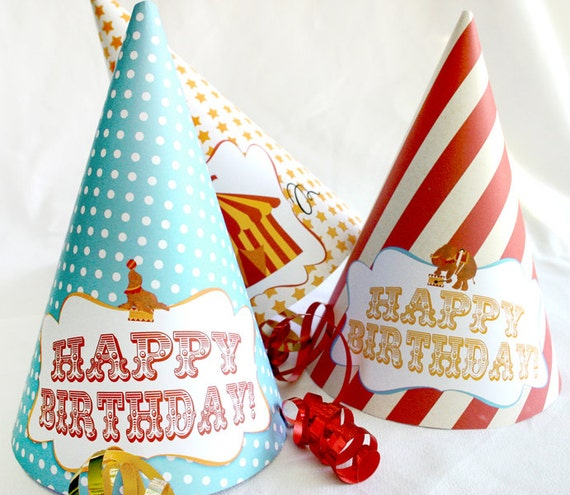 Party Hats Vintage Circus