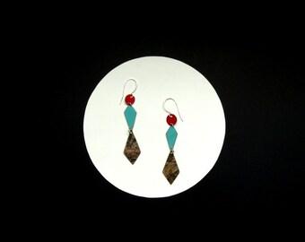 Deco Diamond Drop Earrings