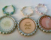 Custom Order- Baby shower wine charms