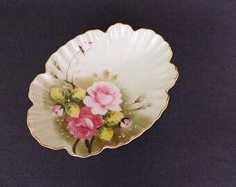 Vintage Handpainted Lefton China 1860, Lefton Dish, China Decor, Serving Dish, Dining Room Decor, Living Room Decor, Decorative dish