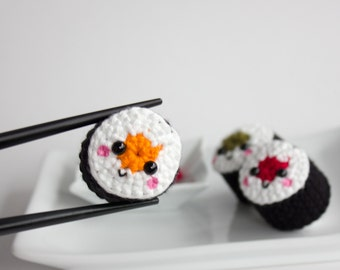 Plush sushi roll toy set