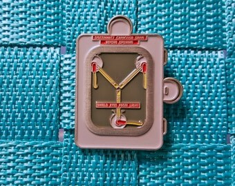 Flux Capacitor Doc Brown Back to the Future Geek Pin / Lapel Pin / Hat Pin by Tom Ryan's Studio
