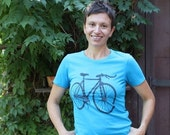 Clearance Bike T-Shirt Medium- Fixie Bicycle T-Shirt - Screen Printed
