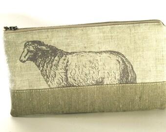 Linen Knitting Needle Case, Tool Bag, IN STOCK
