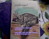 perfect angel ( a spirit's song )maine coon cat cards/ choose an image/ journey cards/sentimental cards/unique empathy condolence cards