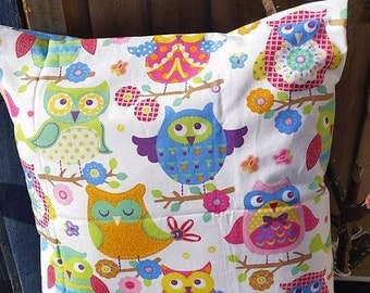 Envelope style Owl cushion cover 19 x 19 inches