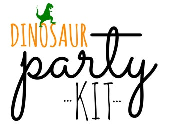 Dinosaur Birthday PARTY KIT!  Birthday Party in a Box! Dinosaur party supplies
