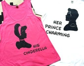 CINDERELLA & PRINCE CHARMING - Silhouette Duo Shirts - baby, toddler, child, adult, couple, disney disneyland disney world custom princess