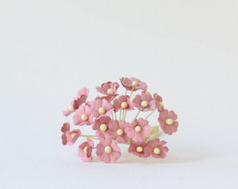 10  mm 20  Pink   Mulberry Paper  Flower