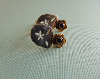30% off any order  Sterling Silver And Copper Earrings