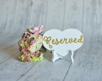 Reserved Sign WITH Easel- your choice of sign color