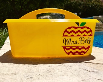 Teacher Caddy, Teacher Organizer, Monogrammed Caddy, Personalized Caddy, Shower Caddy, Graduation Gift, Teacher Gift, Custom gift, Small