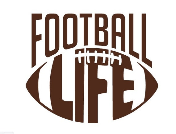 Items similar to football life decal football decal for Alabama football mural