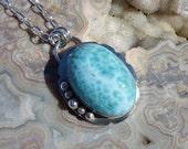 Larimar Sterling Silver Necklace