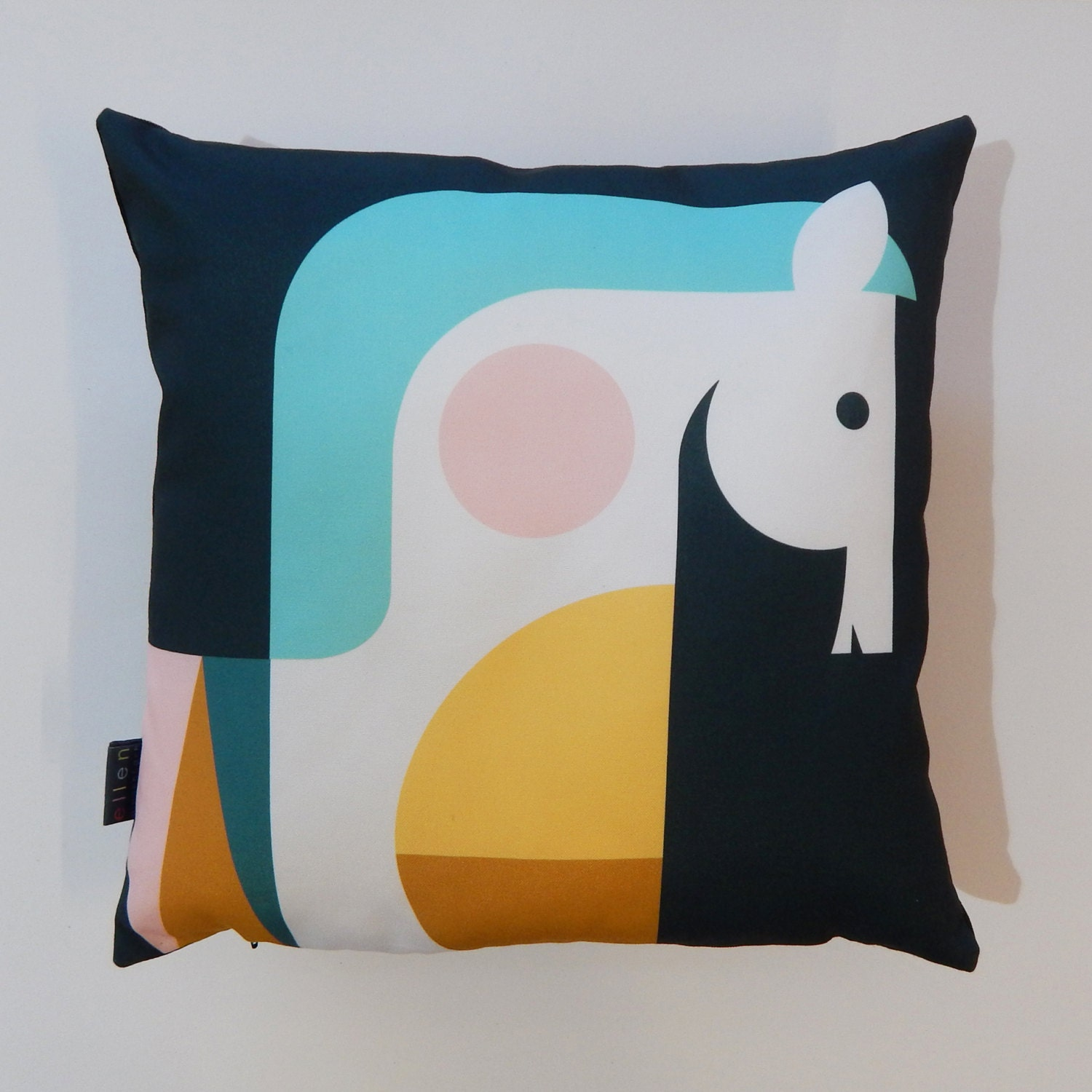 Nordic Horse Head Pillow Cover By Ellengiggenbach On Etsy