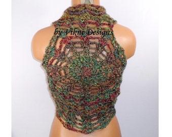 Chunky Bulky Crochet Vest, Women Mandala Vest, Gypsy Vest by Vikni Designs