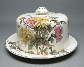 Allman Broughton / AB & Co Staffordshire covered cheese dish 1861 - 1868