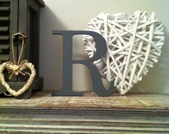 "Painted Wooden Letter - 'R' - Any Colour,  Roman Style - 20"", Wall letter, various colours, other sizes"