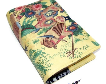 Large Bible Cover, Padded Book Cover, Oriental Dynasty Exotic Birds, UK Seller, Suitable for Hardback or Paperback books