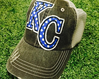 Kansas City Royals Missouri Baseball Bling Ladies Womens Trucker Hat