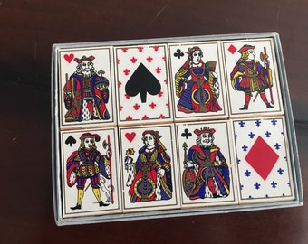 Vintage Leeds Wallace Boxed Set of Italian Matches Playing Card Design 1956 Gin Rummy Bridge Poker Party
