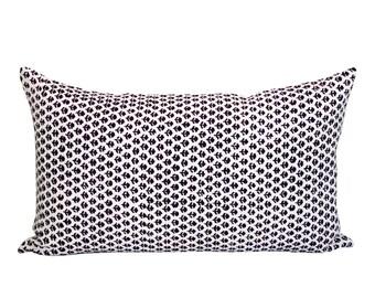 Bindi lumbar pillow cover in Brinjal