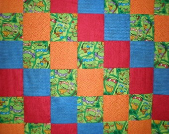SALE Teenage Mutant Ninja Turtles Patchwork Quilt