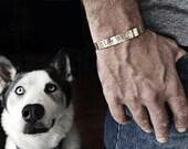 mens jewelry - cuff bracelet / hand stamped bracelet / bronze / stay wild / motivational / inspirational / gift for him / boho chic / man