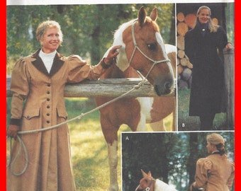 Cattle COAT KATE Buggy Horse  Carriage Pattern 6 8 10 12 Simplicity 9453 UNCUT Leather Equestrian