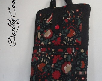 Laptop bag - Messenger bag - Customizable / Removable Padded Wallet - Fully Padded - Waterproof lining - extra pocket for iPhone