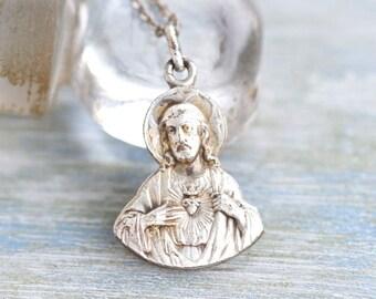 Jesus Medallion Necklace - Souvenir from Montmartre