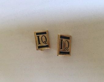 Set of 2 IQ Pins Brooch