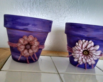 2-Handcrafted flower pot