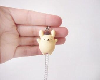 Cute Pom Pom Purin Necklace