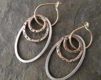 Amrita Earrings ~ Med or Large ~ Oval