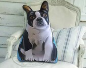 Boston Terrier Stuffed Animal - Dog pillow - front only